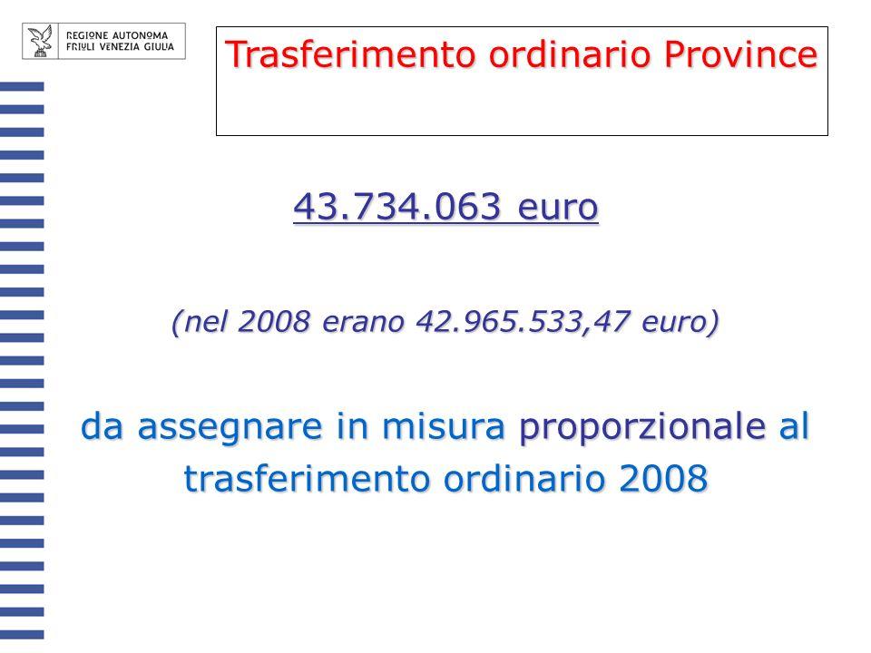 Modalità di erogazione La prima rata entro marzo; la seconda rata entro un mese dallapprovazione della legge di assestamento 2009; la terza e la quarta entro novembre