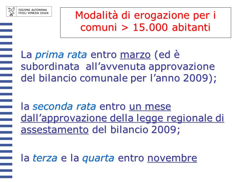 Riduzione rapporto DEBITO/PIL – correttivi Accordi di programma tra regione ed ee.ll.