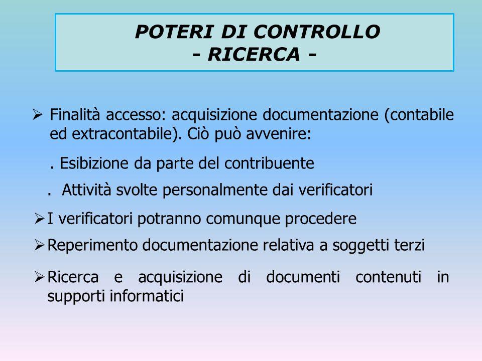 Finalità accesso: acquisizione documentazione (contabile ed extracontabile). Ciò può avvenire:. Esibizione da parte del contribuente. Attività svolte