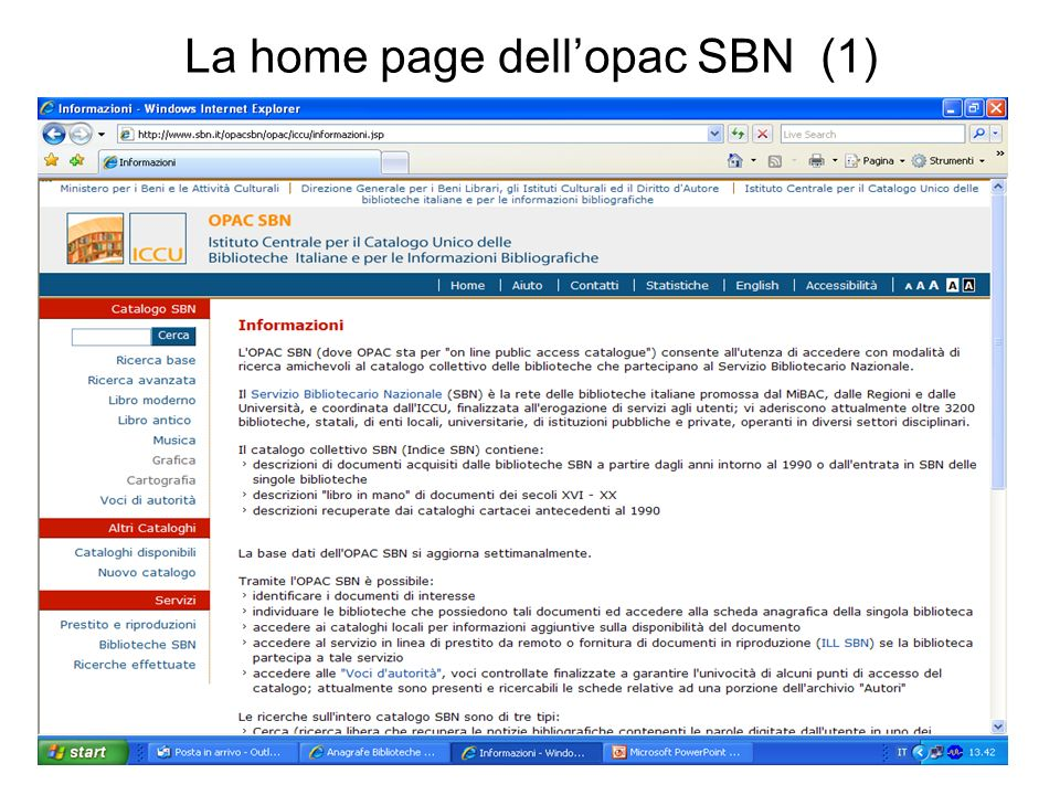 La home page dellopac SBN (1)