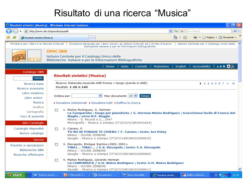 Risultato di una ricerca Musica