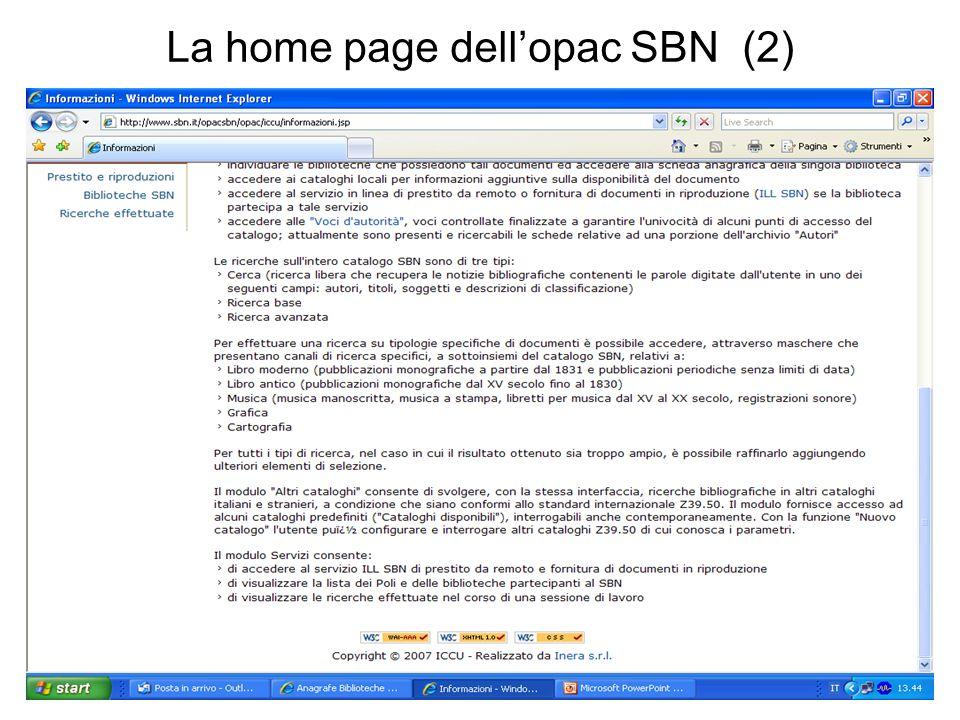 La home page dellopac SBN (2)
