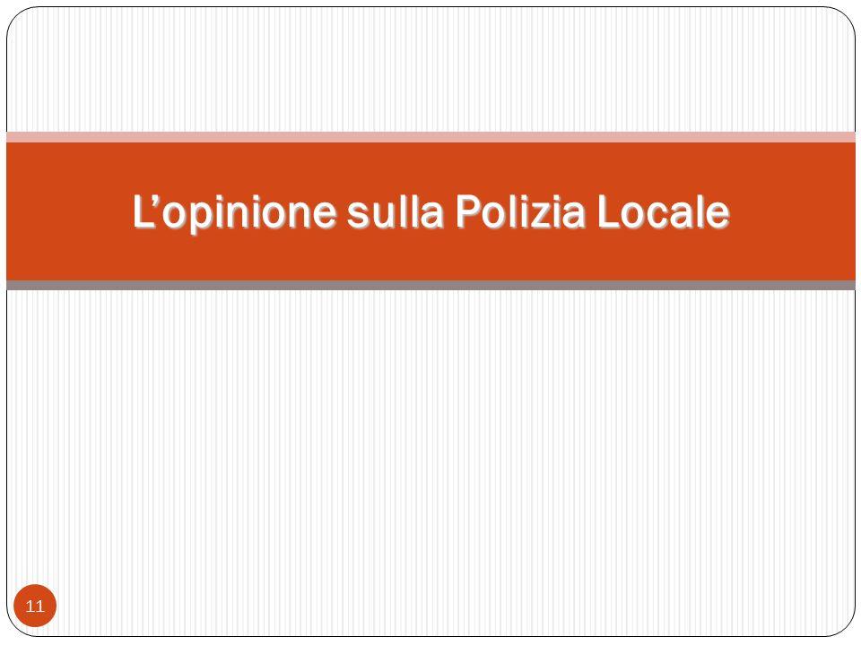 11 Lopinione sulla Polizia Locale