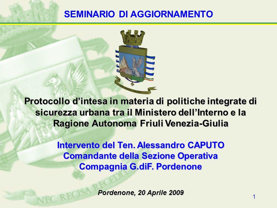 2 ARTICOLAZIONE DELLINTERVENTO La polizia di prossimità: profili generali.