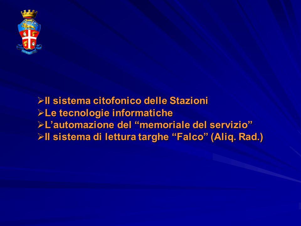 Il sistema citofonico delle Stazioni Il sistema citofonico delle Stazioni Le tecnologie informatiche Le tecnologie informatiche Lautomazione del memor