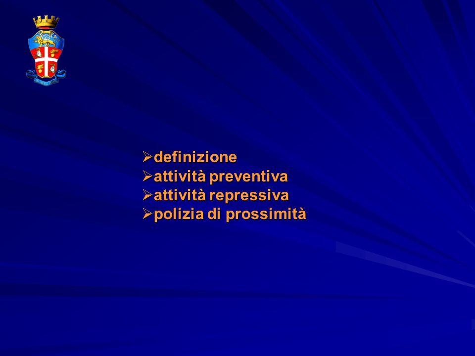 definizione definizione attività preventiva attività preventiva attività repressiva attività repressiva polizia di prossimità polizia di prossimità de