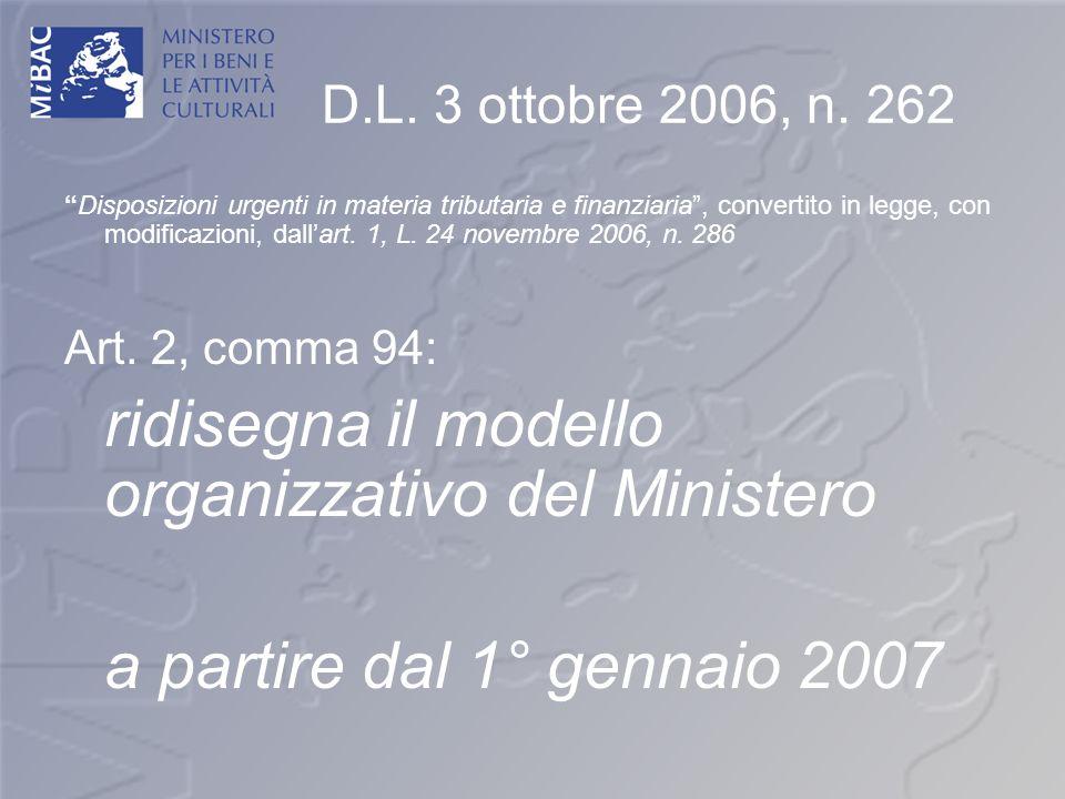 D.L. 3 ottobre 2006, n. 262 Disposizioni urgenti in materia tributaria e finanziaria, convertito in legge, con modificazioni, dallart. 1, L. 24 novemb
