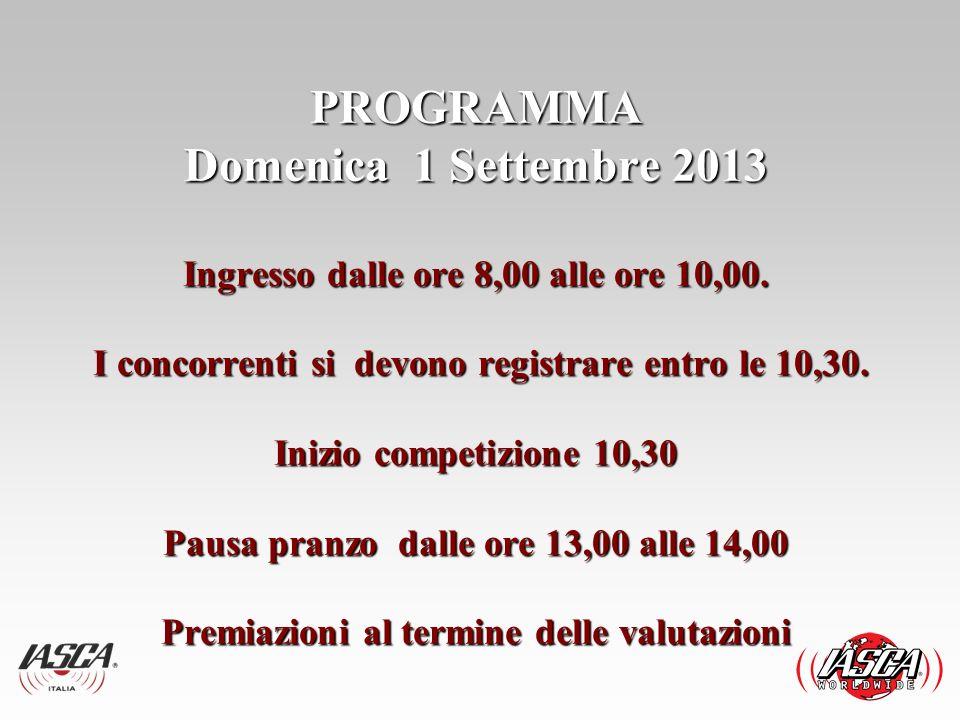 EVENTO IASCA 1 Settembre 2013 3° Evento competitivo stagione 2013.