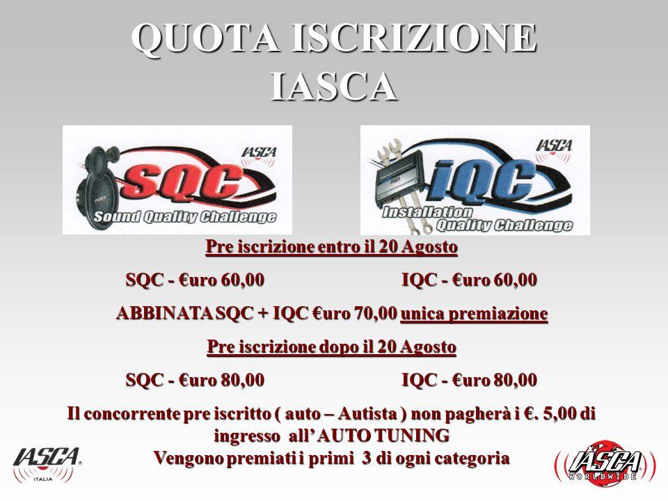 EVENTO IASCA 1 Settembre 2013 4° Evento competitivo stagione 2013.