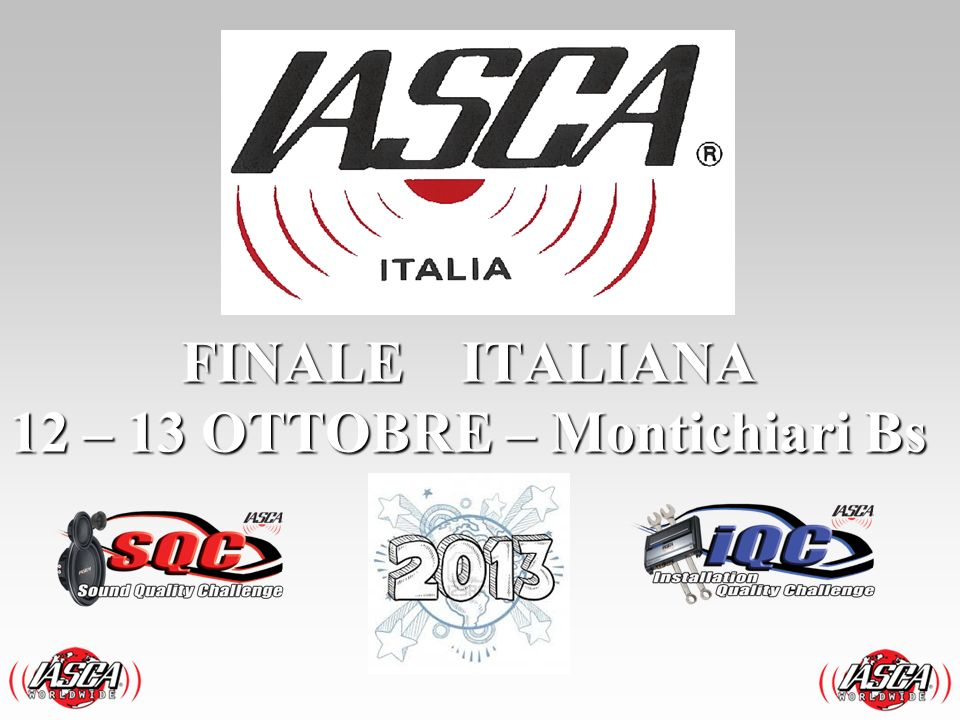 FINALE ITALIANA 12 – 13 OTTOBRE – Montichiari Bs