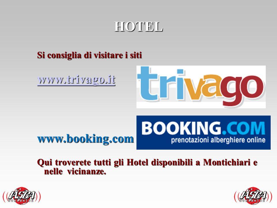Si consiglia di visitare i siti www.trivago.it www.booking.com Qui troverete tutti gli Hotel disponibili a Montichiari e nelle vicinanze. HOTEL
