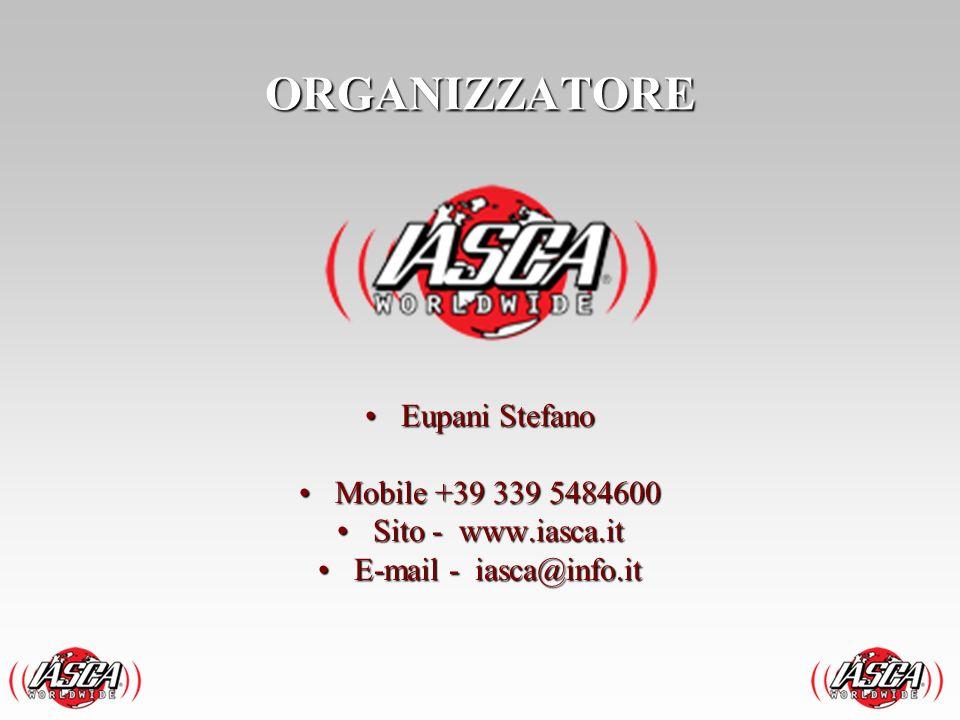 Eupani StefanoEupani Stefano Mobile +39 339 5484600Mobile +39 339 5484600 Sito - www.iasca.itSito - www.iasca.it E-mail - iasca@info.itE-mail - iasca@