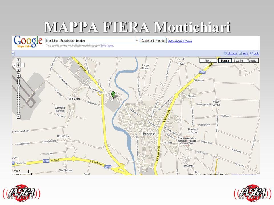 In auto Autostrada Milano - Venezia (A4) uscite a Brescia Est e seguite le indicazioni per Montichiari e poi per fiera Autostrada Venezia - Milano (A4) uscite a Desenzano e seguite le indicazioni Montichiari e poi per fiera.