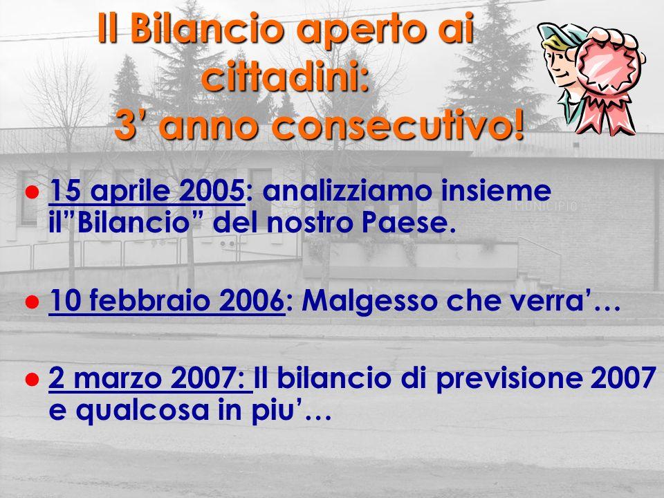 I Servizi del nostro Comune: Quali, quanti, perche Comune di Malgesso Sala consiliare 2 marzo 2007 ore 21