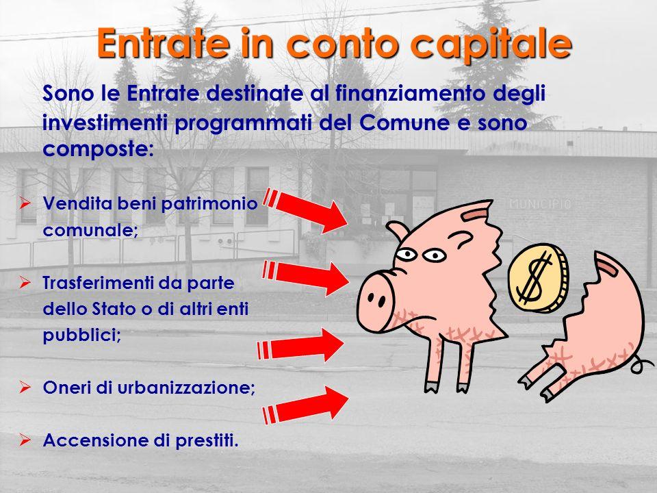 Le Spese Correnti: costi dei vari servizi comunali e quote interessi dei prestiti; In c/capitale: costi dei vari investimenti programmati dallAmministrazione; Per rimborso prestiti: restituzione delle quote capitale dei prestiti accesi.