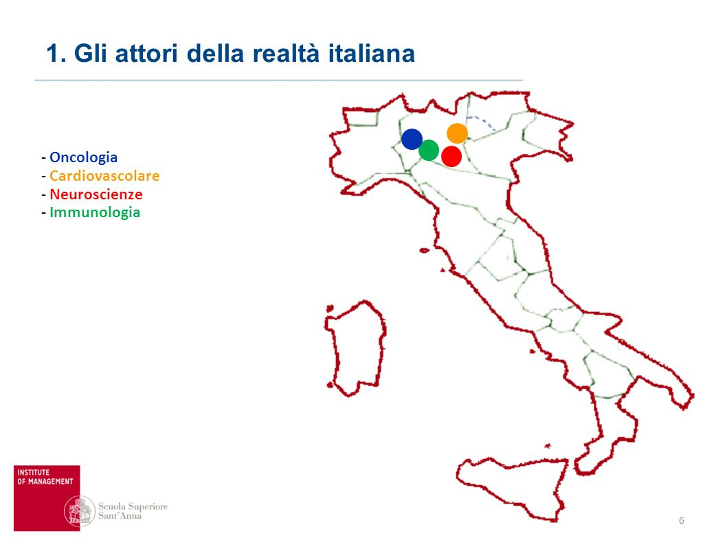 Domanda: quali centri non lombardi avrebbe senso coinvolgere dando vita a reti nazionali di eccellenze specialistiche? Punti di forza in Lombardia: -
