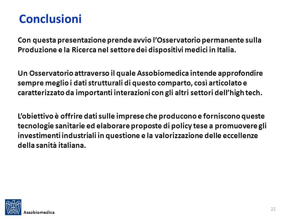 Con questa presentazione prende avvio lOsservatorio permanente sulla Produzione e la Ricerca nel settore dei dispositivi medici in Italia.