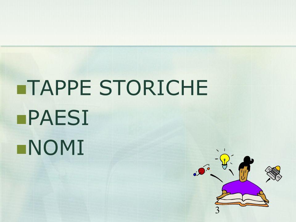 3 TAPPE STORICHE PAESI NOMI