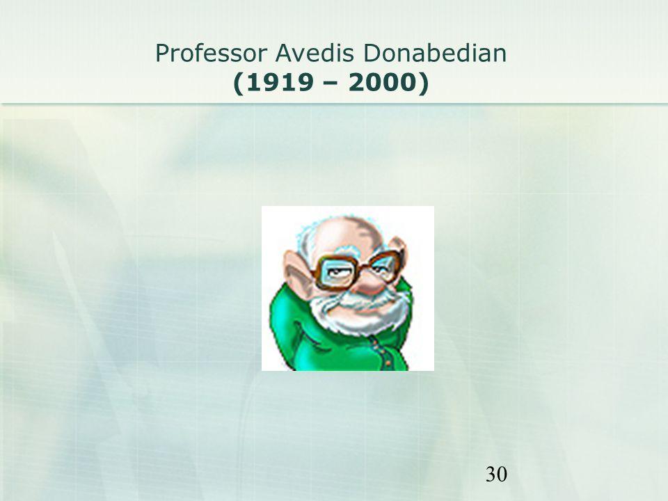 30 Professor Avedis Donabedian (1919 – 2000)