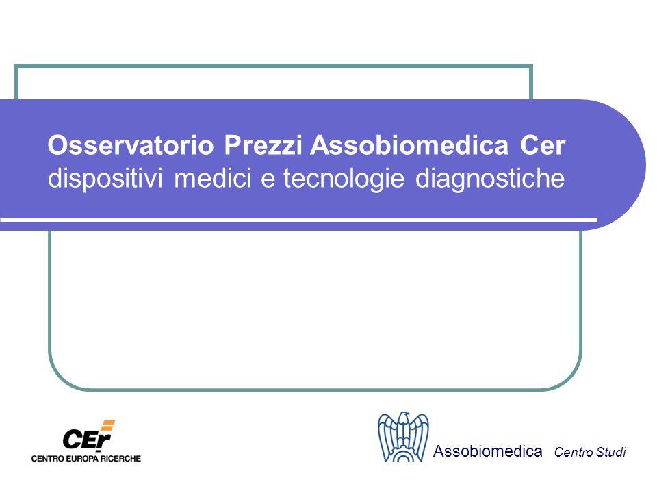 Osservatorio Prezzi Assobiomedica Cer dispositivi medici e tecnologie diagnostiche Assobiomedica Centro Studi