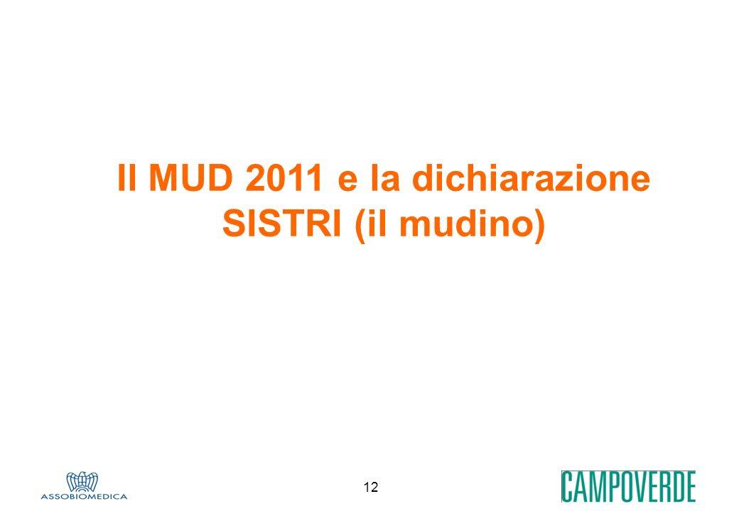 12 Il MUD 2011 e la dichiarazione SISTRI (il mudino)