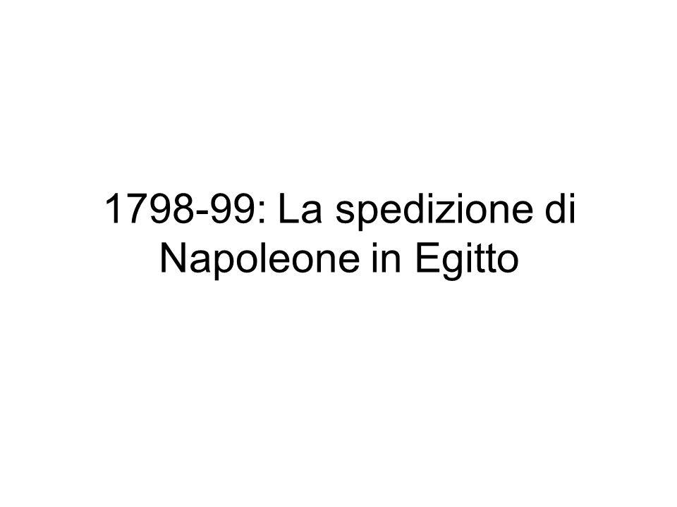 1798-99: La spedizione di Napoleone in Egitto
