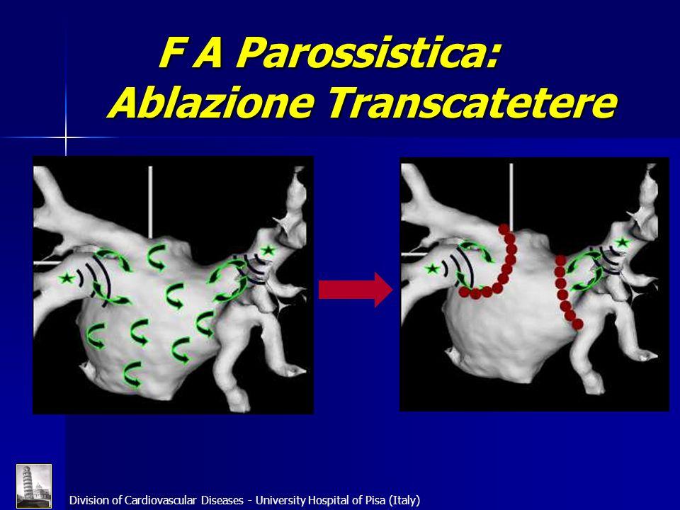 Division of Cardiovascular Diseases - University Hospital of Pisa (Italy) F A Parossistica: Ablazione Transcatetere