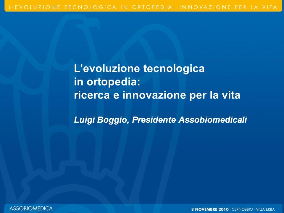 Levoluzione tecnologica in ortopedia: innovazione per la vita Levoluzione tecnologica in ortopedia: ricerca e innovazione per la vita Luigi Boggio, Pr