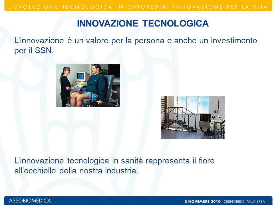 Linnovazione è un valore per la persona e anche un investimento per il SSN. Linnovazione tecnologica in sanità rappresenta il fiore allocchiello della