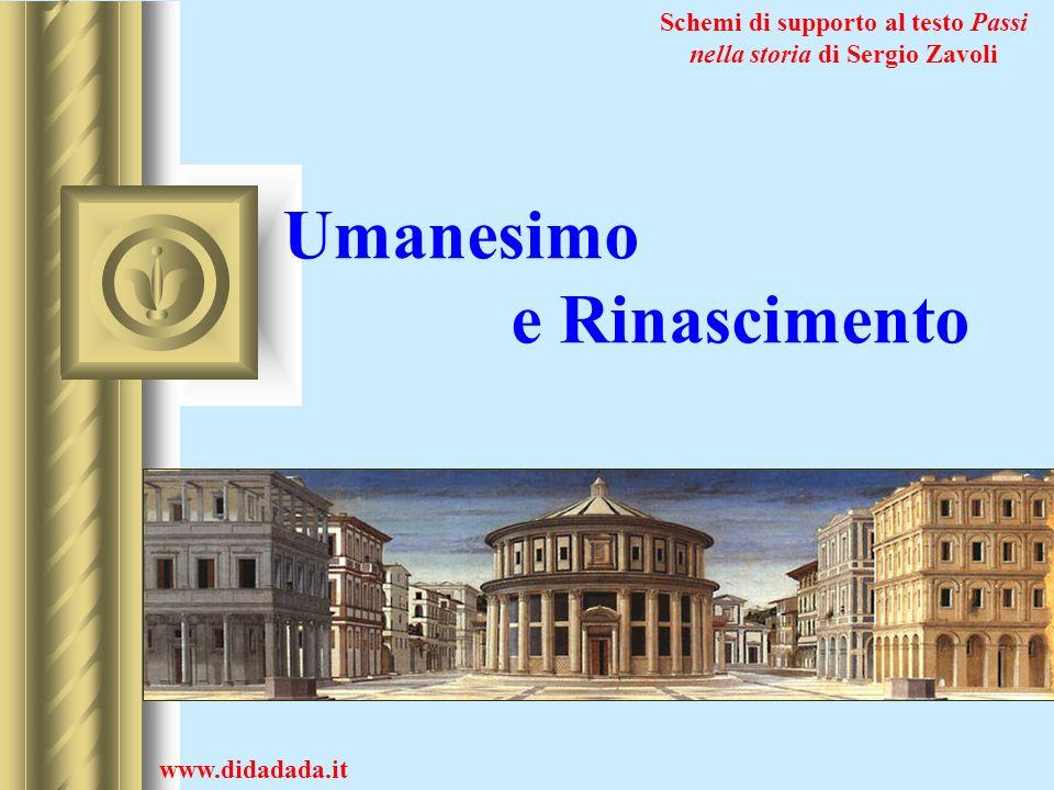Umanesimo e Rinascimento www.didadada.it Schemi di supporto al testo Passi nella storia di Sergio Zavoli