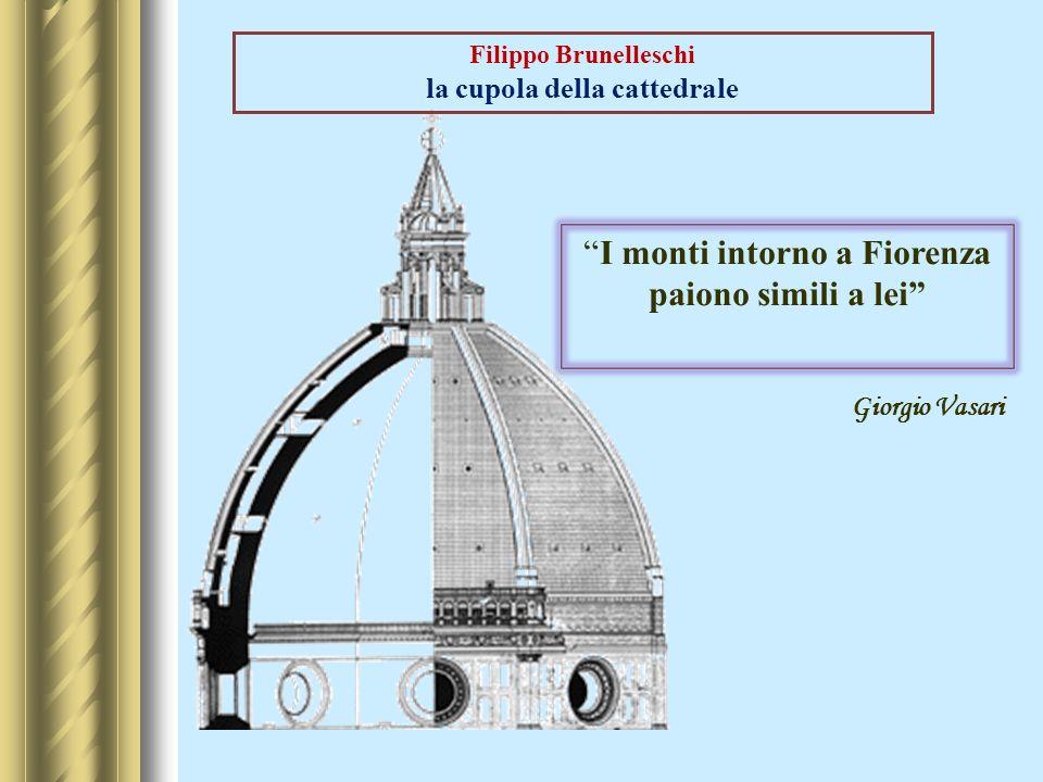 Filippo Brunelleschi la cupola della cattedrale I monti intorno a Fiorenza paiono simili a lei Giorgio Vasari