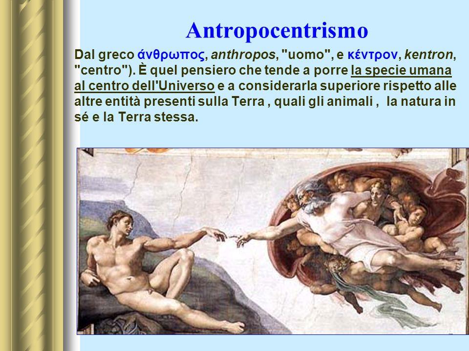 Antropocentrismo Dal greco άνθρωπος, anthropos,