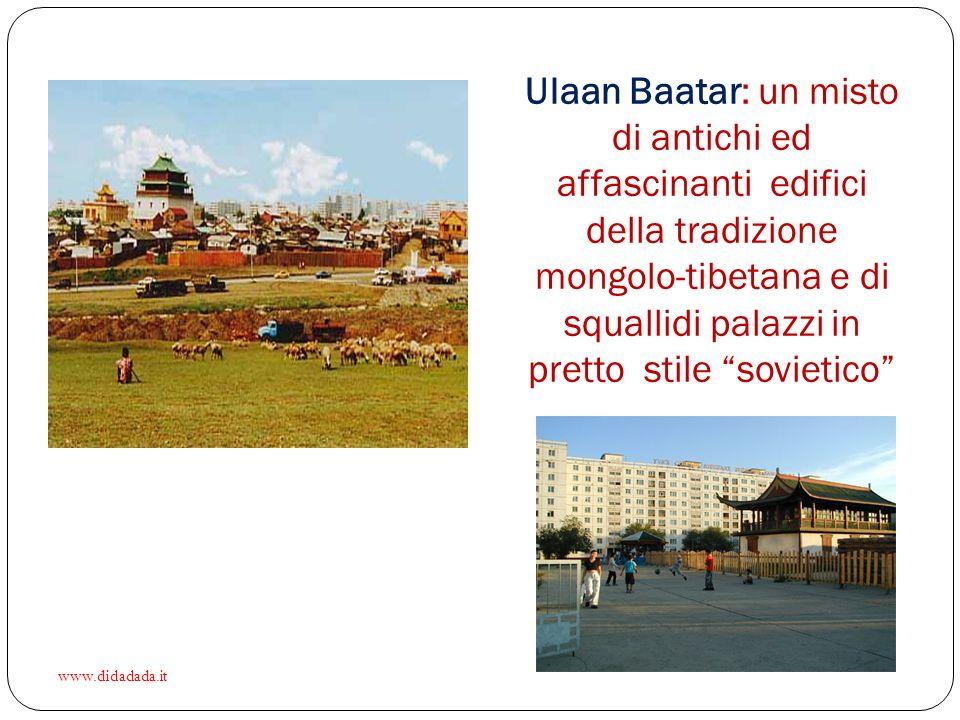 Ulaan Baatar: un misto di antichi ed affascinanti edifici della tradizione mongolo-tibetana e di squallidi palazzi in pretto stile sovietico www.didadada.it