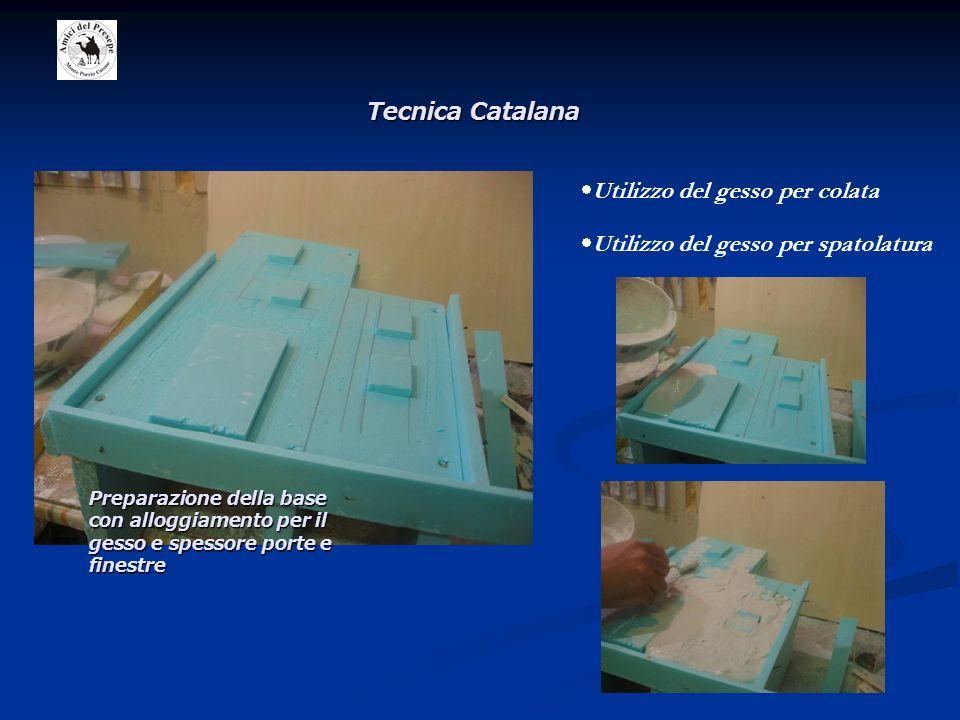 Utilizzo del gesso per colata Utilizzo del gesso per spatolatura Preparazione della base con alloggiamento per il gesso e spessore porte e finestre