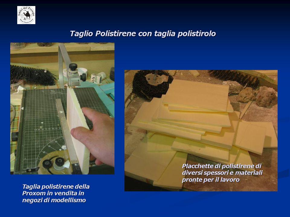 Taglio Polistirene con taglia polistirolo Taglia polistirene della Proxom in vendita in negozi di modellismo Placchette di polistirene di diversi spessori e materiali pronte per il lavoro
