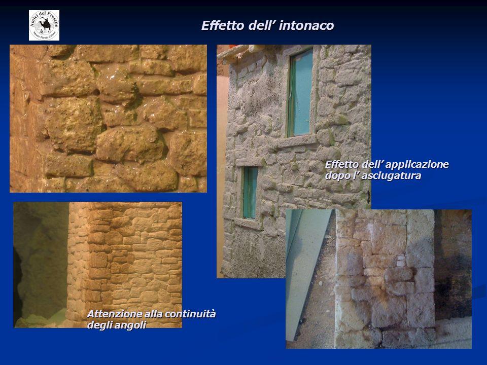 Altri esempi con intonaco Altre tecniche con altri materiali tipo polvere di sughero e sabbie tipi tufina.