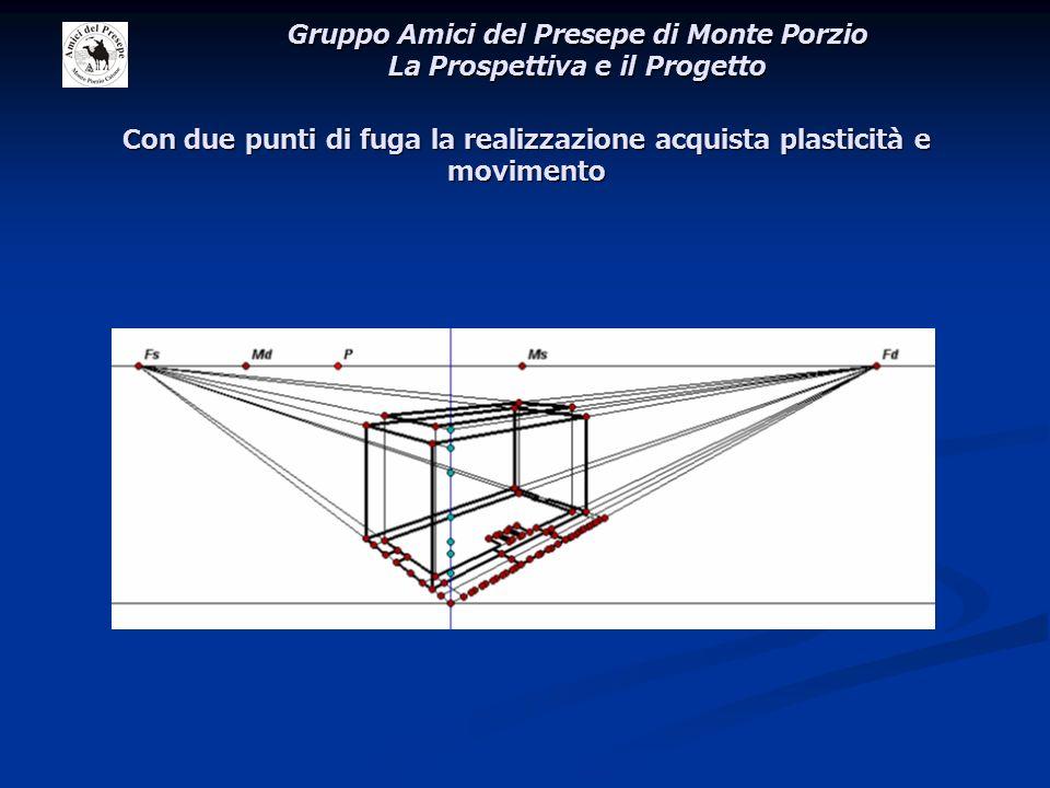 Con due punti di fuga la realizzazione acquista plasticità e movimento Gruppo Amici del Presepe di Monte Porzio La Prospettiva e il Progetto
