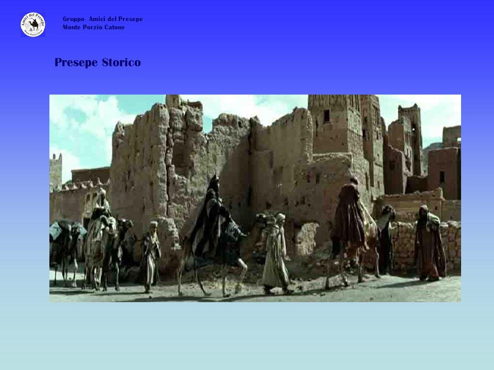 Gruppo Amici del Presepe Monte Porzio Catone Presepe Storico Elementi naturali rocce e vegetazione tipiche delle zone del Medio Oriente