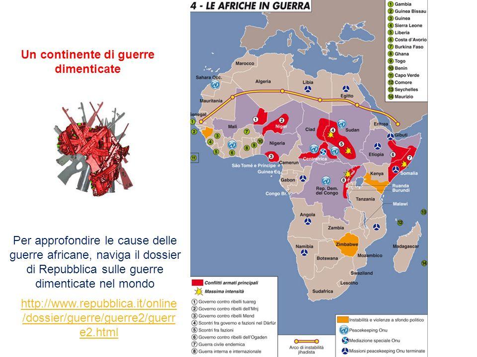 http://www.repubblica.it/online /dossier/guerre/guerre2/guerr e2.html Un continente di guerre dimenticate Per approfondire le cause delle guerre afric