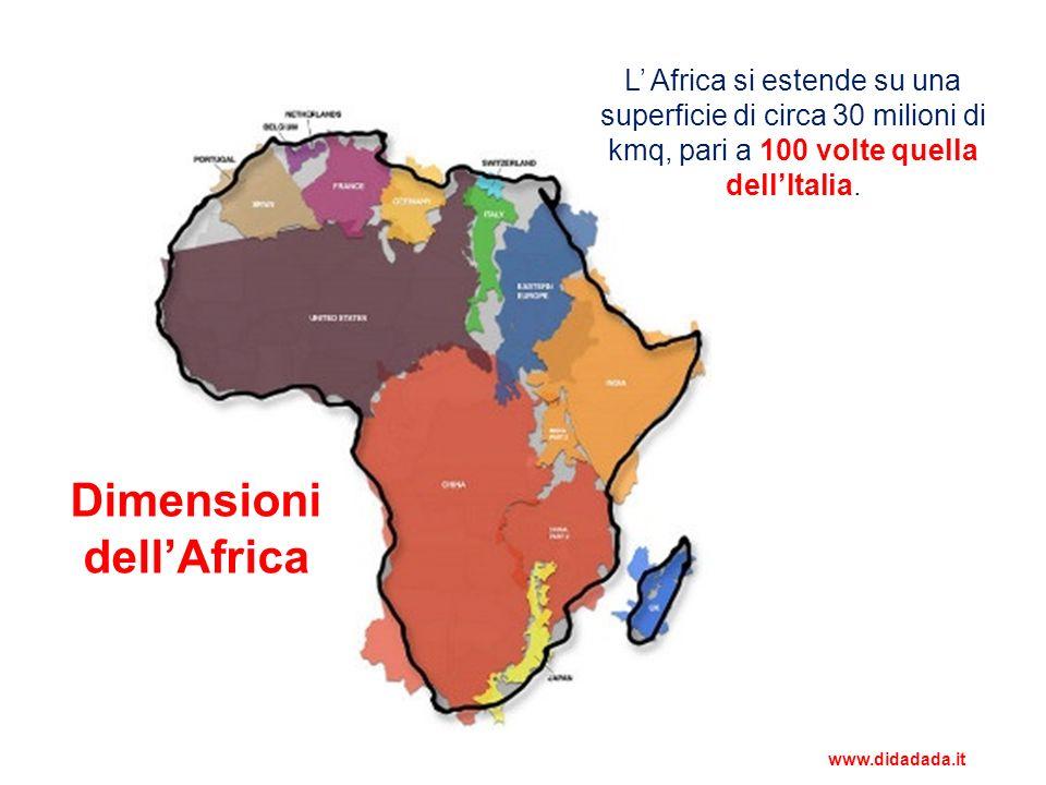 Quadro fisico: Africa settentrionale La zona settentrionale è occupata dal deserto del Sahara, che è il più grande del mondo.