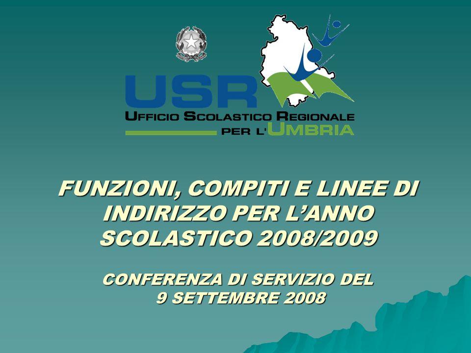 ORGANIGRAMMA dellUSR E DEGLI USP Dott.Domenico Petruzzo Tel.