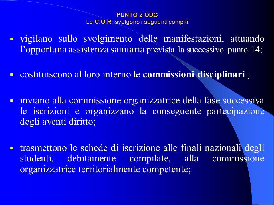 Delibera COR: organismo ristretto con compiti operativi USR – due Coordinatori EFS territoriali CONI – CIP –
