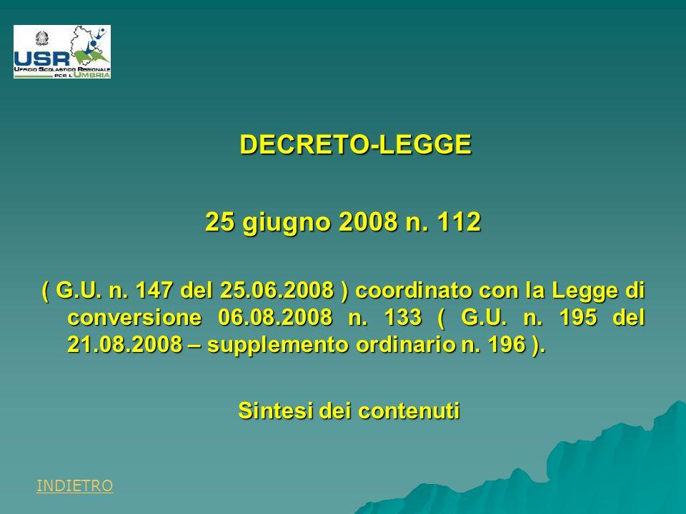 DECRETO-LEGGE 25 giugno 2008 n. 112 ( G.U. n.