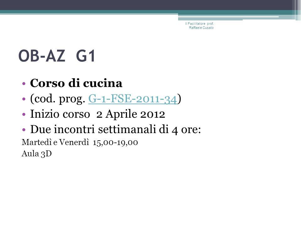 OB-AZ G1 Corso di cucina (cod. prog.