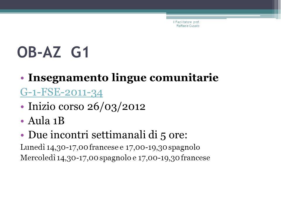 OB-AZ G1 Informatica di base G-1-FSE-2011-34G-1-FSE-2011-34 Inizio corso 28/03/2012 Aula: Lab.