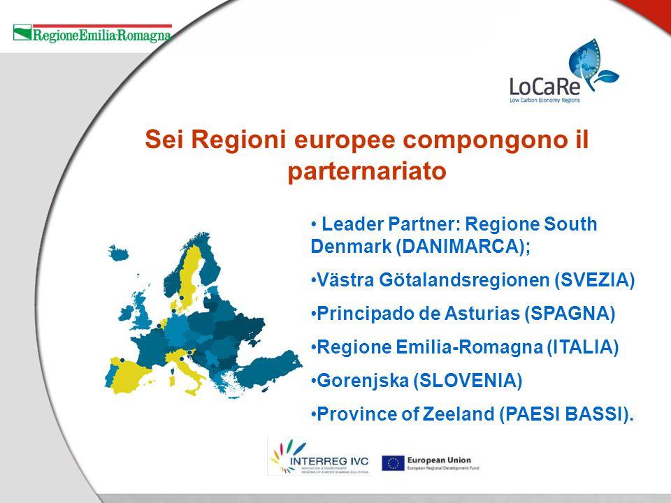 Sei Regioni europee compongono il parternariato Leader Partner: Regione South Denmark (DANIMARCA); Västra Götalandsregionen (SVEZIA) Principado de Asturias (SPAGNA) Regione Emilia-Romagna (ITALIA) Gorenjska (SLOVENIA) Province of Zeeland (PAESI BASSI).
