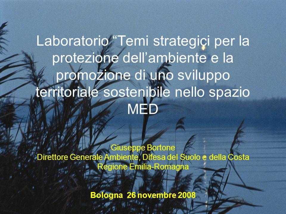Laboratorio Temi strategici per la protezione dellambiente e la promozione di uno sviluppo territoriale sostenibile nello spazio MED Giuseppe Bortone
