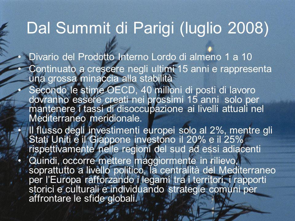 Dal Summit di Parigi (luglio 2008) Divario del Prodotto Interno Lordo di almeno 1 a 10 Continuato a crescere negli ultimi 15 anni e rappresenta una gr
