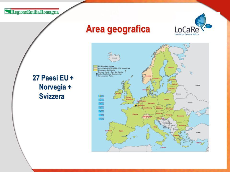 Area geografica 27 Paesi EU + Norvegia + Svizzera 27 Paesi EU + Norvegia + Svizzera