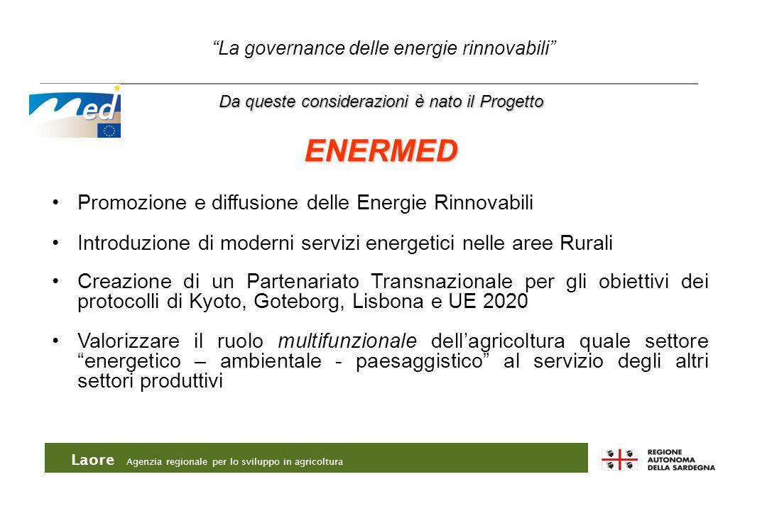 Laore Agenzia regionale per lo sviluppo in agricoltura Da queste considerazioni è nato il Progetto ENERMED Promozione e diffusione delle Energie Rinno